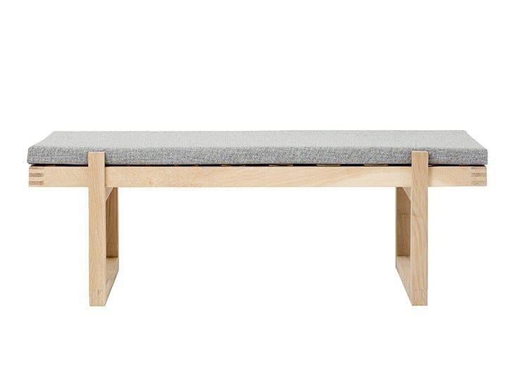 Upholstered fabric bench MINIMAL BENCH | Fabric bench by Kristina Dam Studio