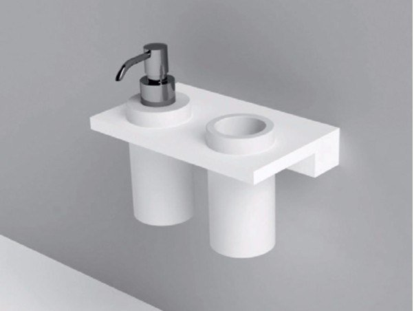Wall Mounted Corian Bathroom Wall Shelf UNICO | Corian® Bathroom Wall Shelf  By Rexa