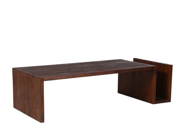Rectangular coffee table with integrated magazine rack MINIMAL   Coffee table with integrated magazine rack by WARISAN