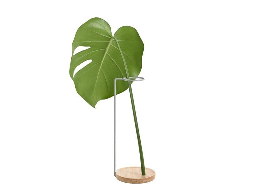 Vaso in acciaio e legno MINIMAL | Vaso in acciaio e legno by Hem