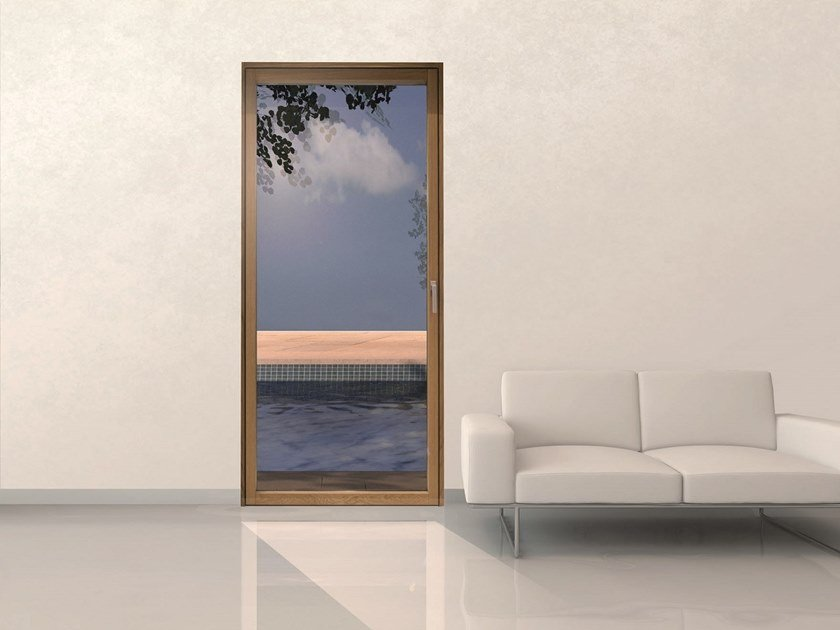 Aluminium and wood patio door MINIMAL WOOD | Patio door by De Carlo