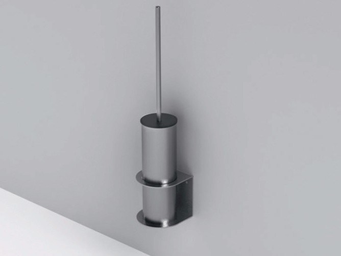 Wall-mounted steel toilet brush MINIMAL | Wall-mounted toilet brush by Rexa Design