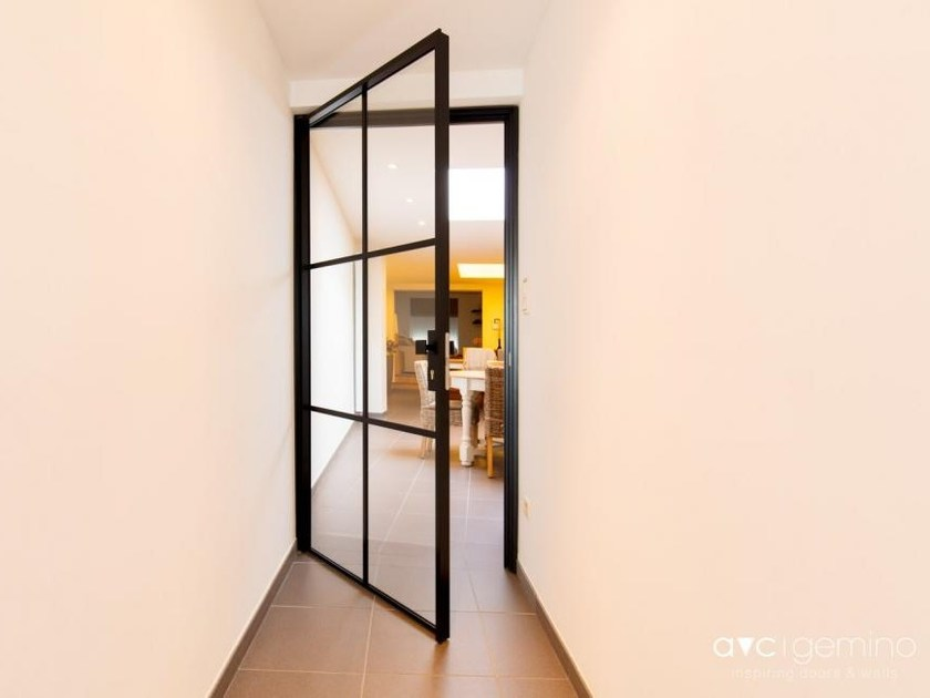 Hinged glass door MINIMALIST | Hinged door by AVC Gemino