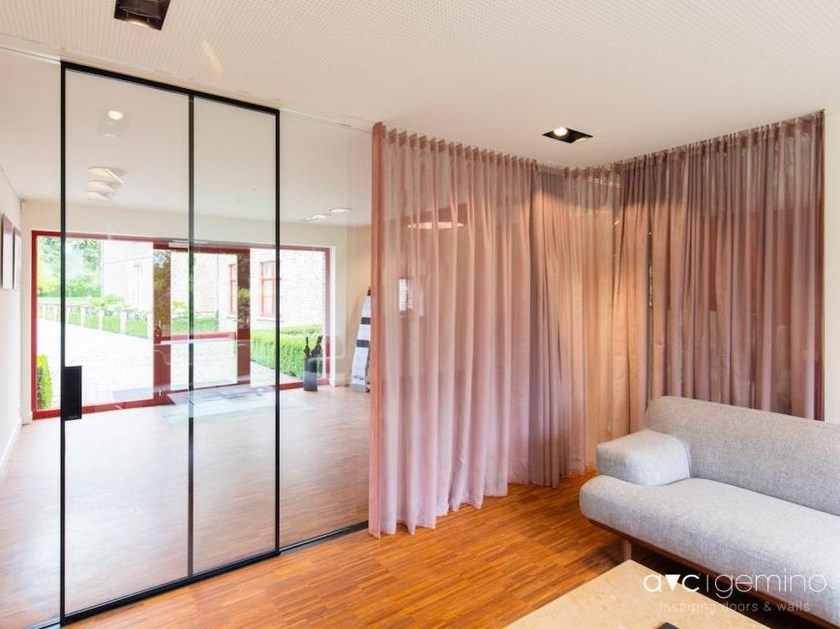Glass sliding door MINIMALIST | Sliding door by AVC Gemino