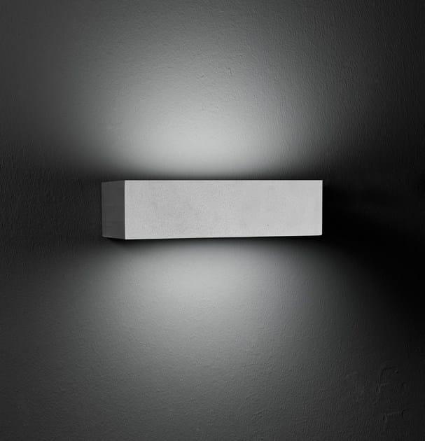 Direct-indirect light die cast aluminium wall lamp MINISLIM F.8241 by Francesconi & C.