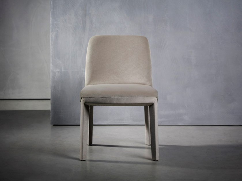 Upholstered fabric chair MINNE | Chair by Piet Boon