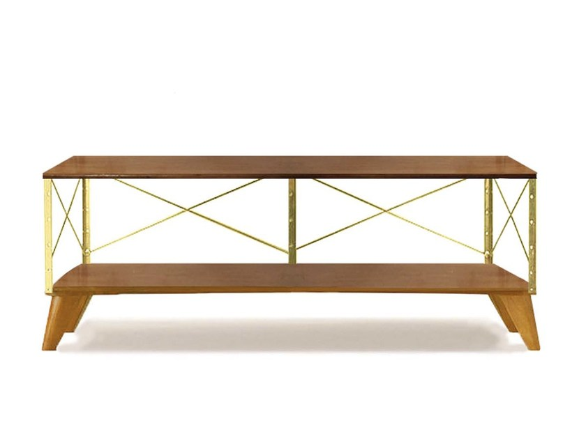 Walnut coffee table with storage space for living room MINO | Coffee table by Moanne