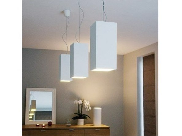 Plaster pendant lamp MIO by GESSO