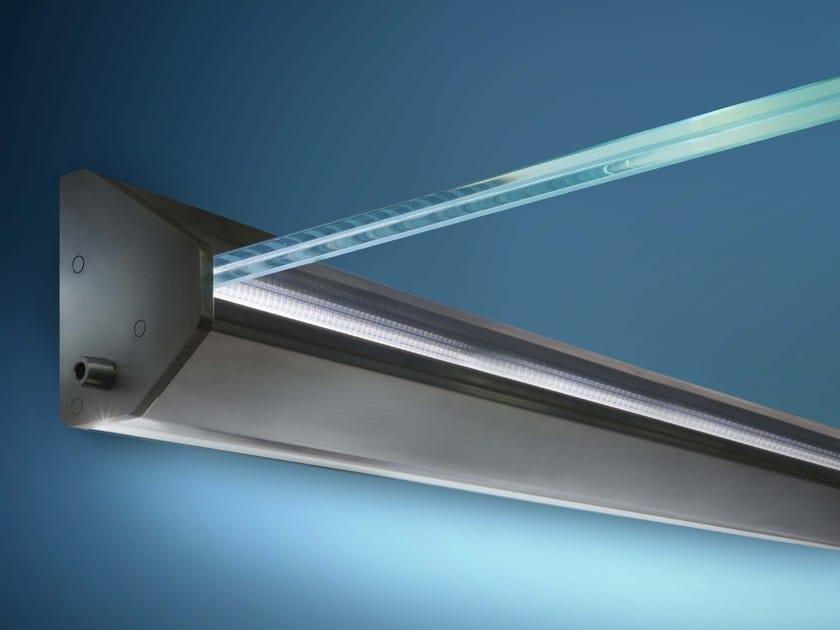 Pensilina in vetro con illuminazione mira nuova oxidal