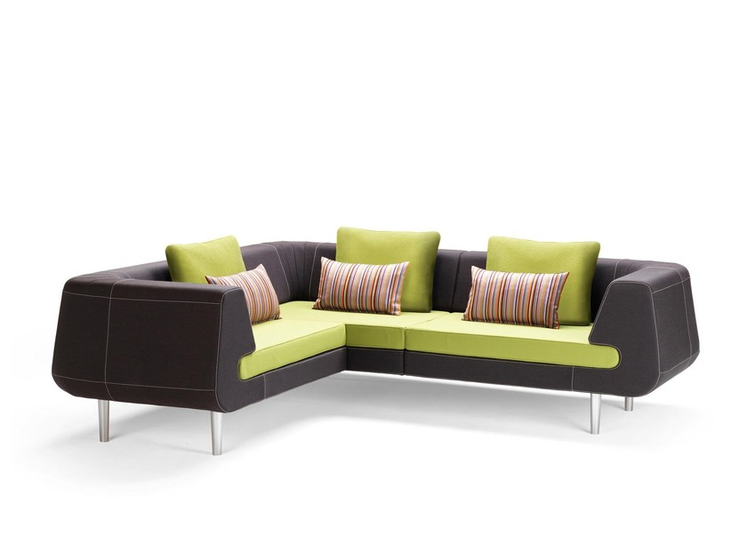 Corner sectional fabric sofa MIRAGE | Sectional sofa by Stouby