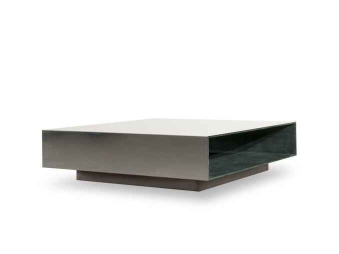 Low square coffee table MIROIR by BAXTER