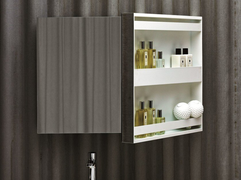 Bathroom mirror with cabinet MIRROR BOOK by AZZURRA sanitari