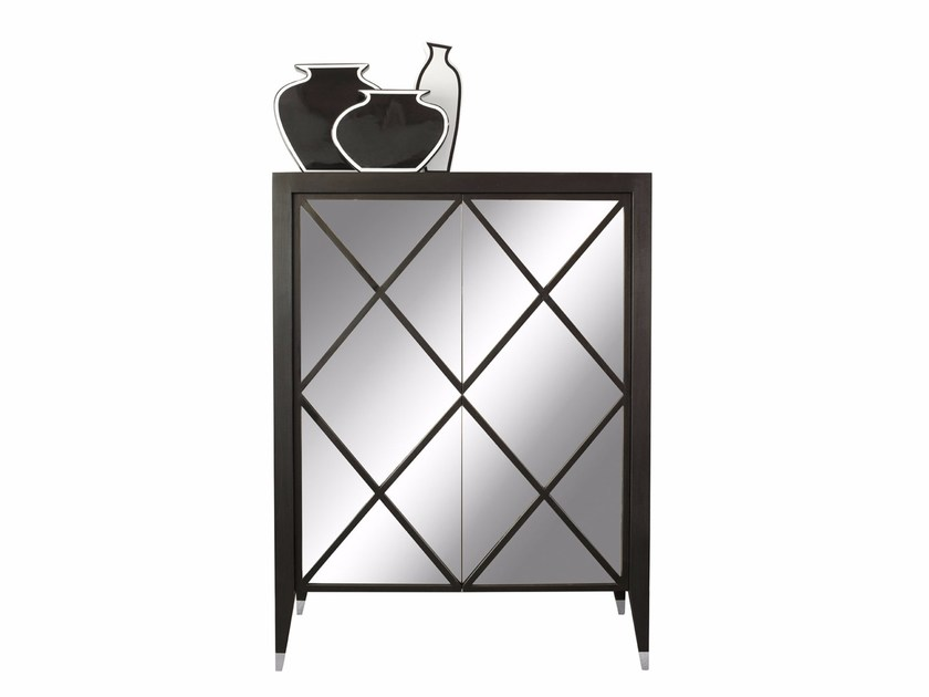 Highboard with doors MIRROR CABINET by SOFTHOUSE