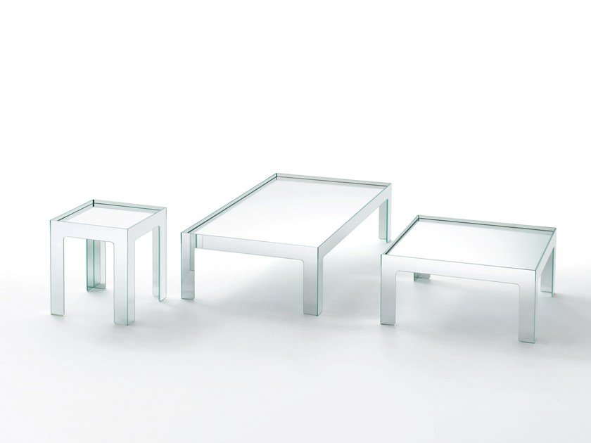 Low crystal coffee table MIRROR MIRROR | Coffee table by Glas Italia