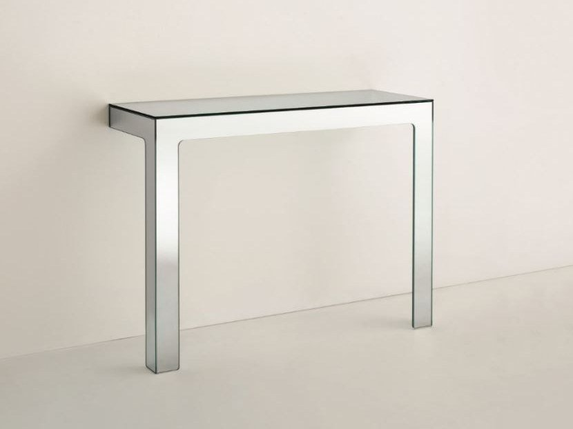 Rectangular crystal console table MIRROR MIRROR | Console table by Glas Italia