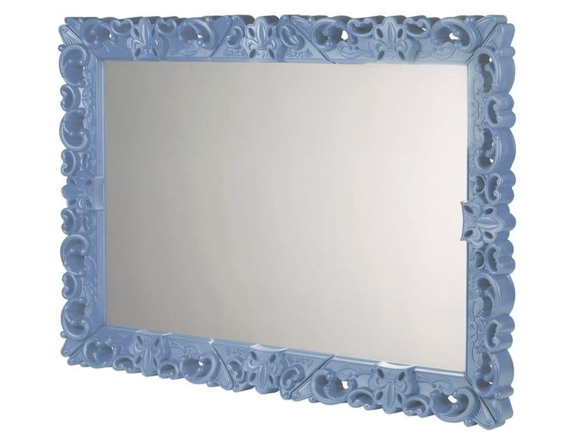 Square framed polyethylene mirror MIRROR OF LOVE by SLIDE