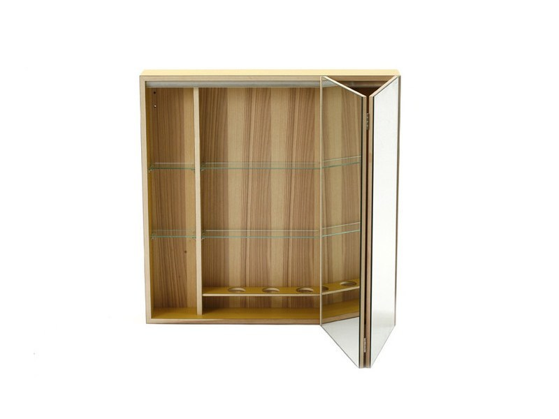 Suspended bathroom wall cabinet with mirror MIRROR STORAGE by MINT FACTORY