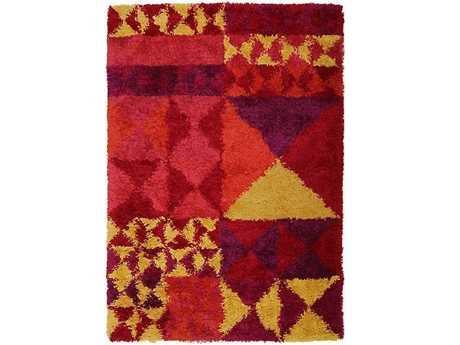 Wool rug with geometric shapes MIRROR by Verpan