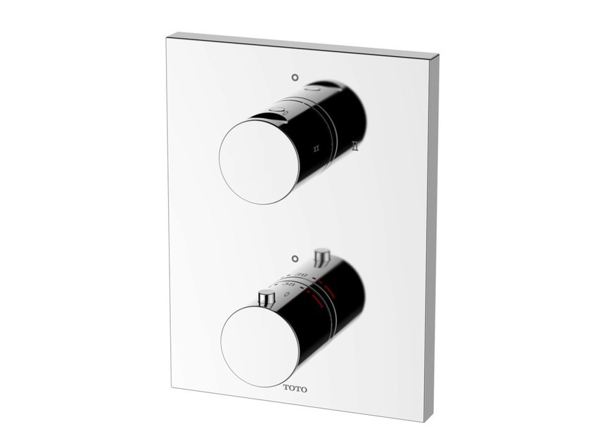 2 hole thermostatic shower mixer with plate DB421VE | 2 hole thermostatic shower mixer by TOTO