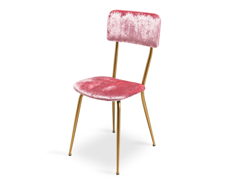 Upholstered fabric chair MISS AVA by Lalabonbon