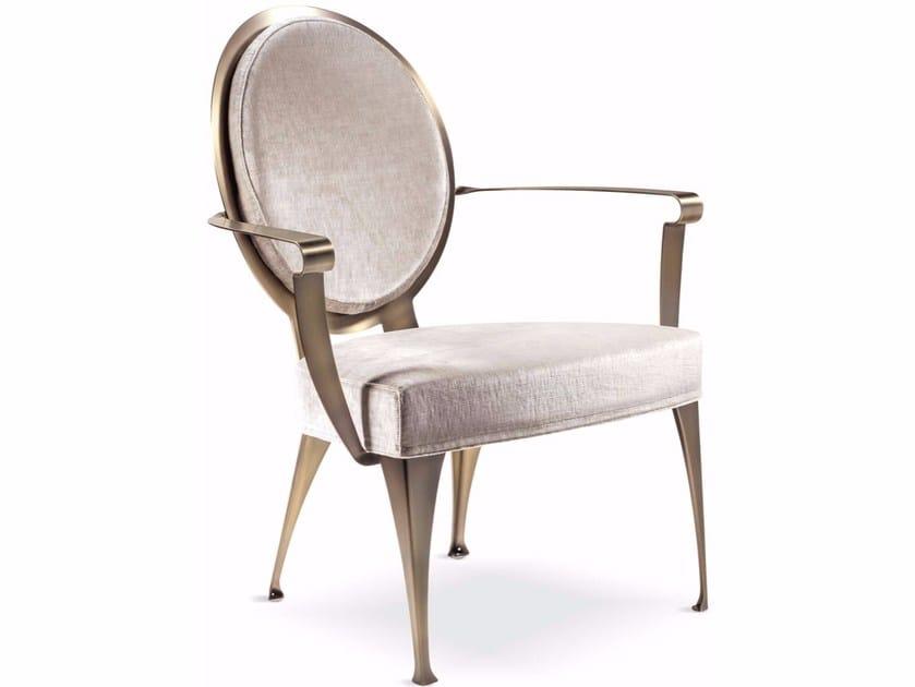 Medallion armchair with armrests MISS | Armchair by Cantori