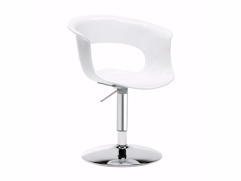 Swivel polycarbonate chair MISS B UP ANTISHOCK by SCAB DESIGN