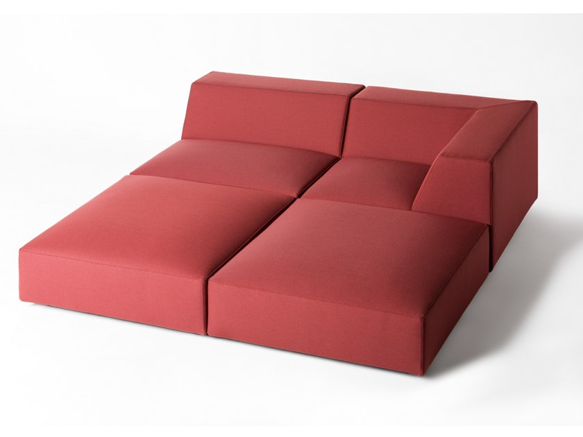 Corner modular fabric sofa MISS MATCH by BALERI ITALIA
