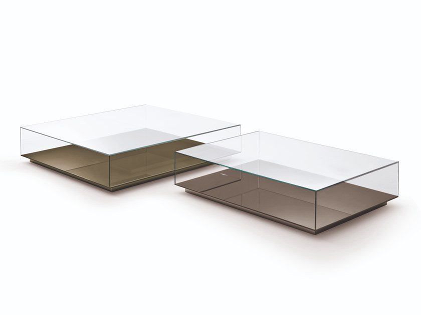 Rectangular crystal coffee table MISS | Coffee table by Busnelli