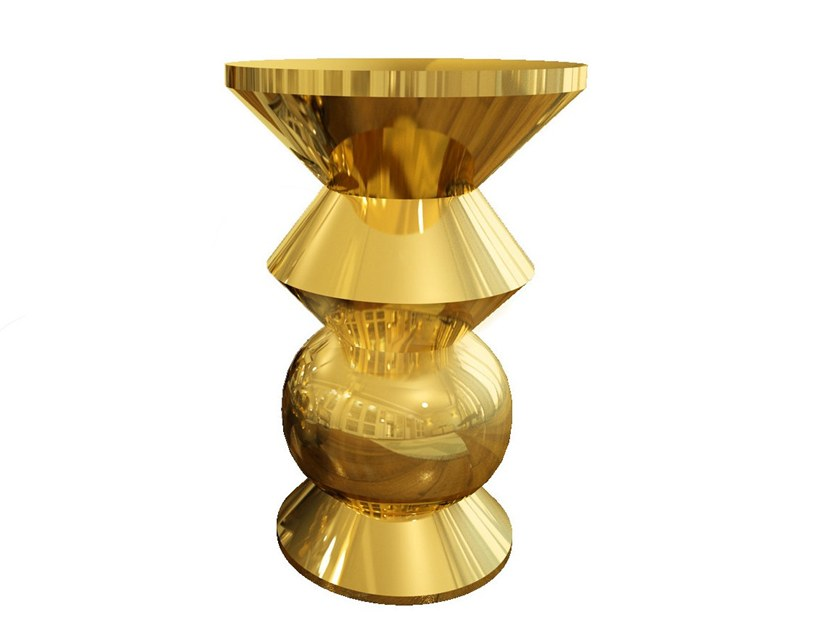 Brass stool / coffee table MIST by Malabar