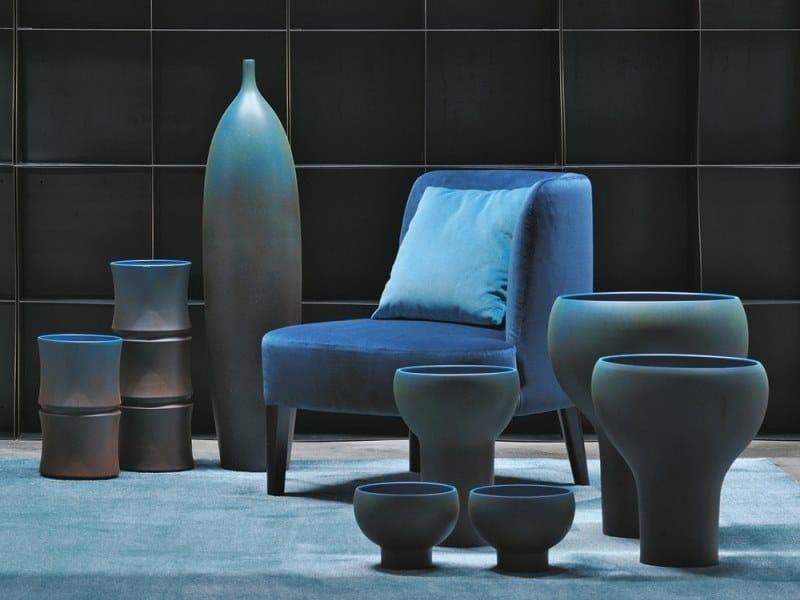Ceramic vase MISTER BLUE by Adriani e Rossi edizioni