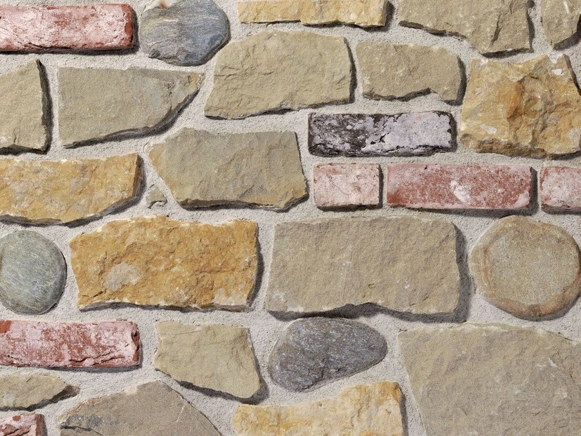 Natural stone wall tiles MISTO VOLTERRA | Natural stone wall tiles by B&B Rivestimenti Naturali