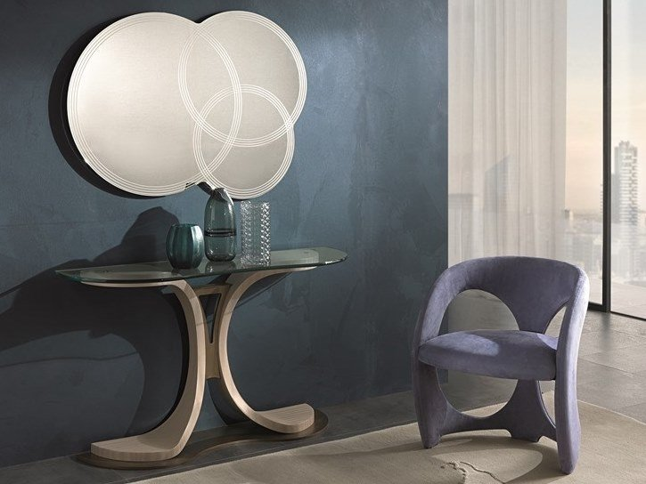 Upholstered chair with armrests MISTRAL   Chair with armrests by Carpanelli