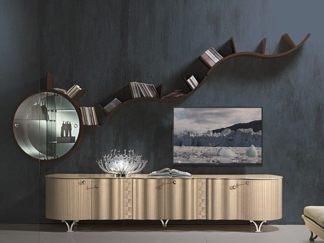 Contemporary style lacquered wooden sideboard with doors MISTRAL | Lacquered sideboard by Carpanelli