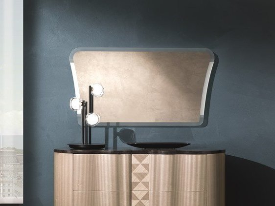 Rectangular wall-mounted mirror MISTRAL | Mirror by Carpanelli