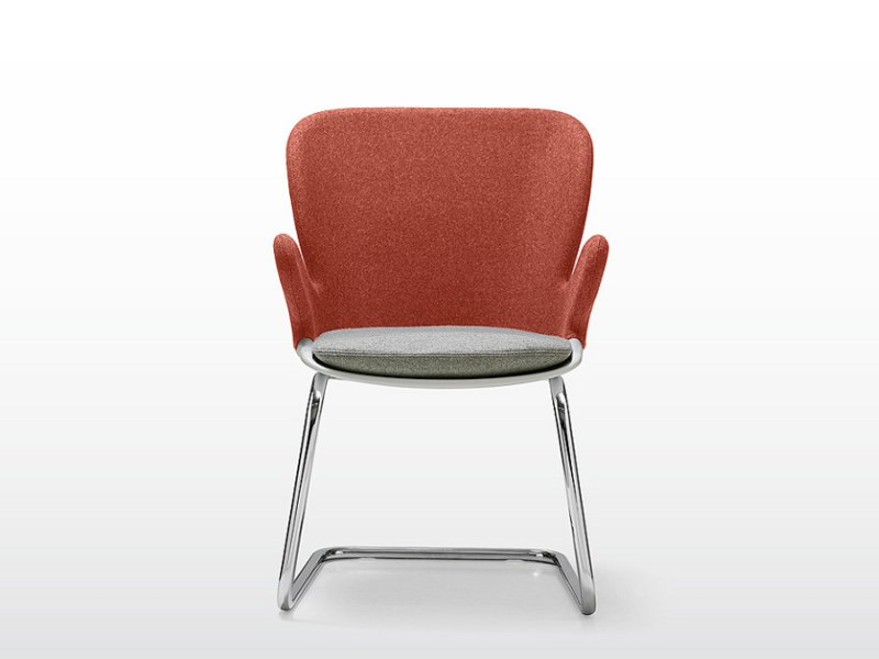 Cantilever chair with armrests MISTY | Cantilever chair by Quinti Sedute