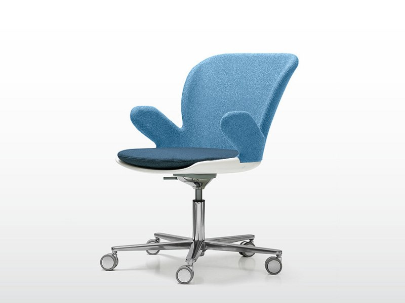Task chair with 5-Spoke base with armrests MISTY | Task chair with armrests by Quinti Sedute