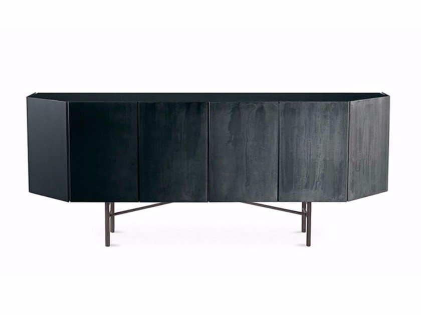 Wooden sideboard with doors MISTY VENICE by Gallotti&Radice