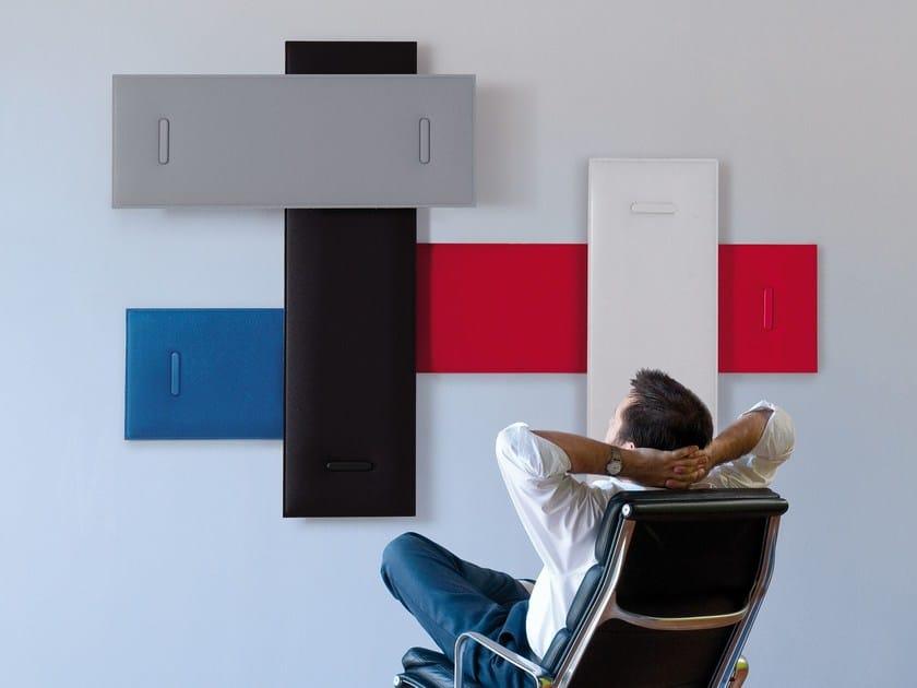 Decorative acoustical panel MITESCO by Caimi Brevetti