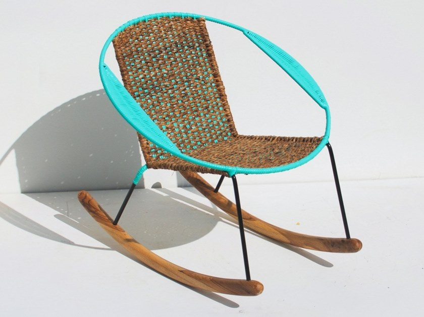 Rocking easy chair with armrests TUCURINCA MITI - MITI | Rocking easy chair by Tucurinca