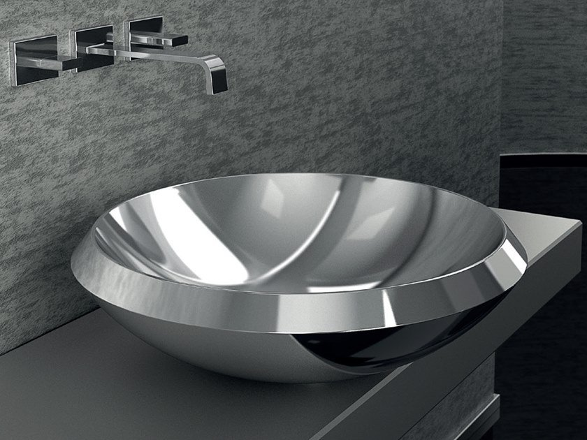 Countertop stainless steel washbasin MITO by Glass Design