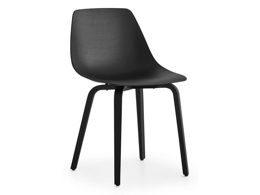 Multi-layer wood chair MIUNN | Multi-layer wood chair by Lapalma