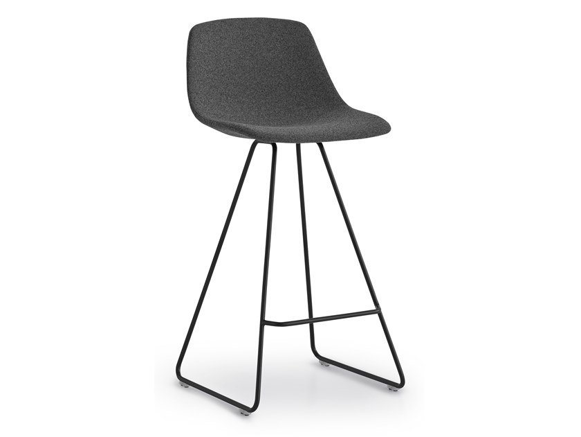 High sled base stool with back MIUNN | Sled base stool by Lapalma