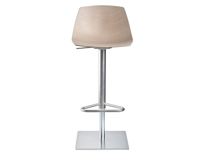 High swivel stool with back MIUNN | Swivel stool by Lapalma