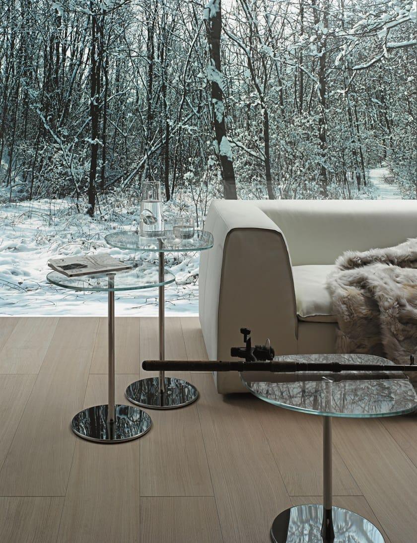 Mixit Acciaio Tavolino In Da Desalto E Glass Cristallo Caffè HIeD2bEWY9