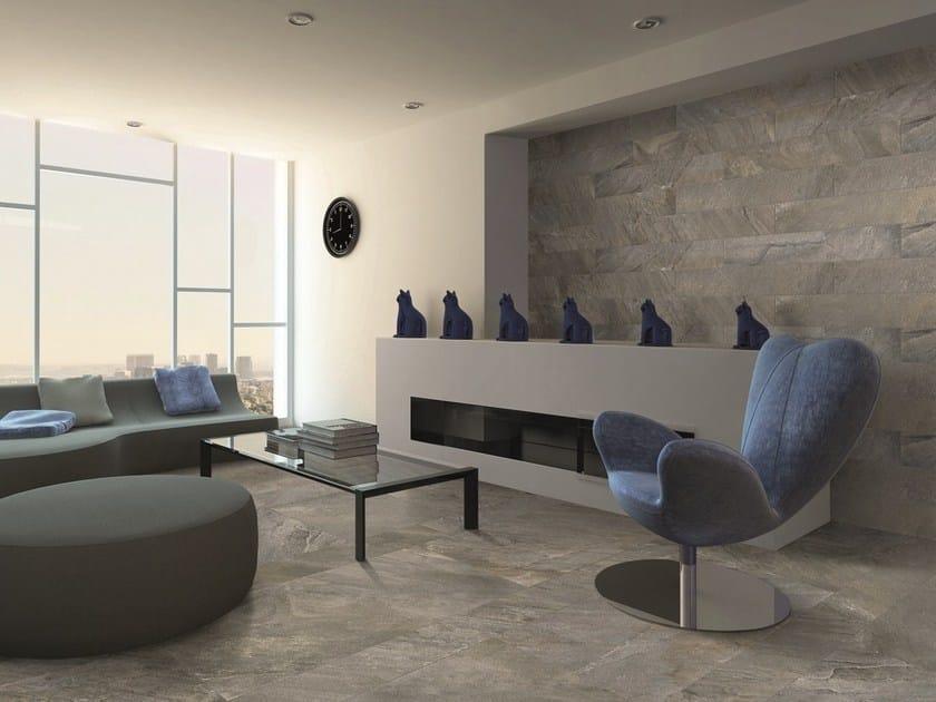 Ceramic granite wall/floor tiles with stone effect MIXSTONE by ESTIMA CERAMICA