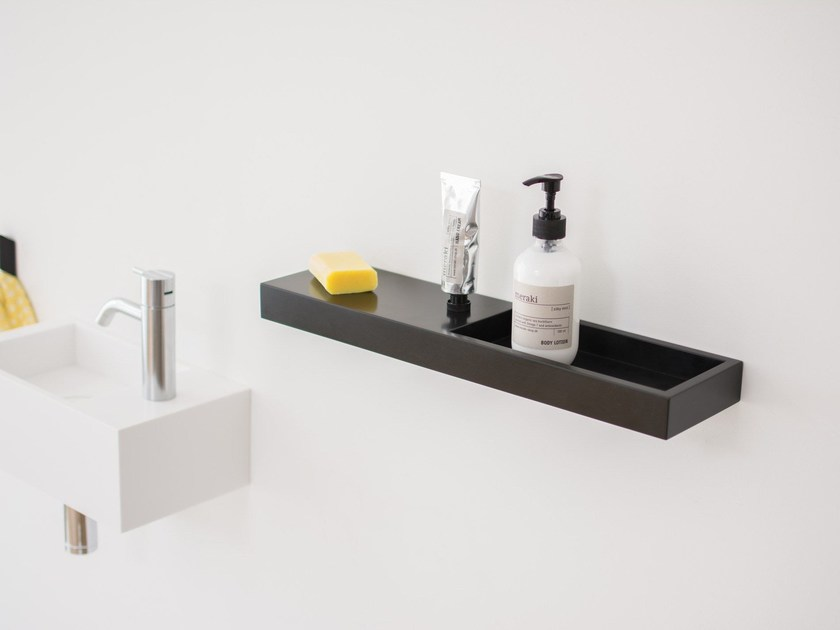 HI-MACS® bathroom wall shelf MIXX by Not Only White