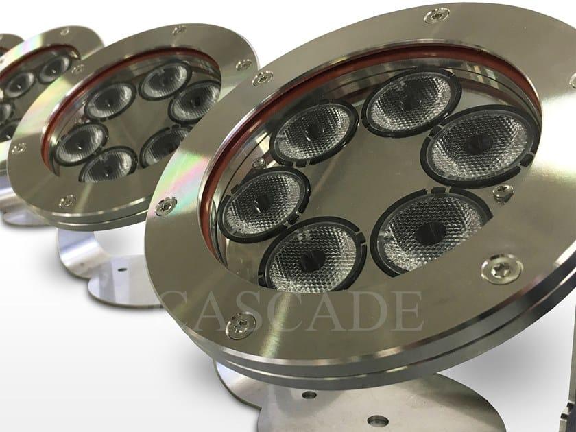 Lampada ad immersione a LED in acciaio inox per fontane Fari LED Mizar by CASCADE