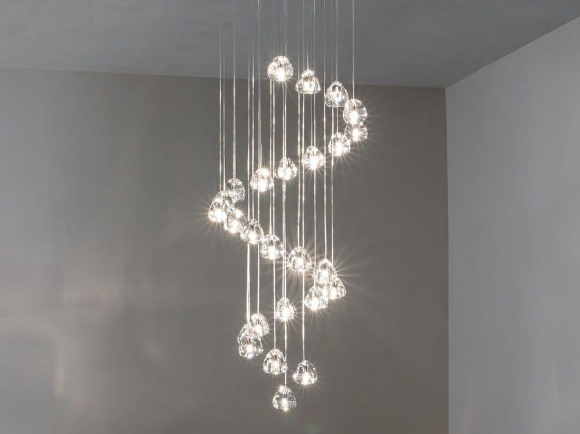 Halogen crystal pendant lamp MIZU | Pendant lamp by TERZANI