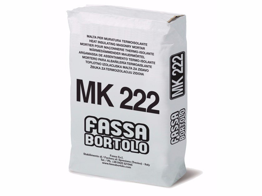 Thermo insulating mortar MK 222 by FASSA