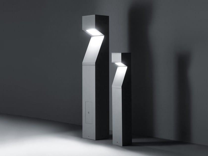 Bollard led and traditional lighting source MOAI | Bollard light by SIMES